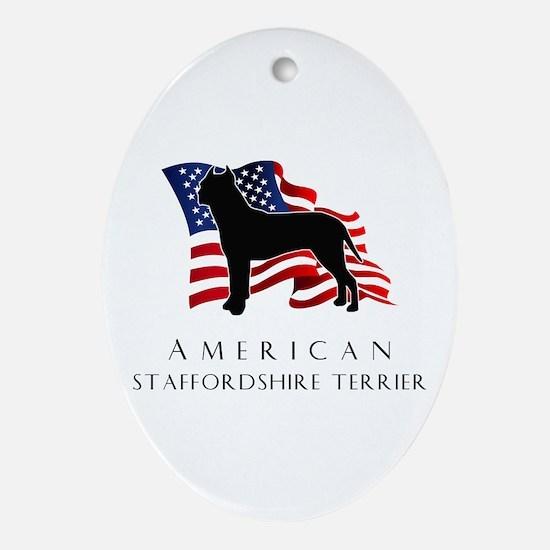 """American"" Staffordshire Ornament (Oval)"