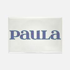 Paula Blue Glass Rectangle Magnet