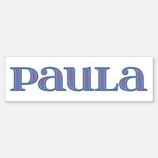 Paula Blue Glass Bumper Bumper Bumper Sticker