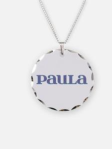 Paula Blue Glass Necklace