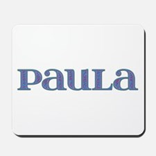 Paula Blue Glass Mousepad