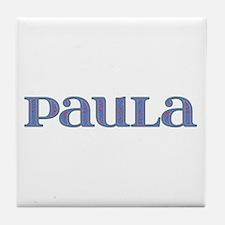 Paula Blue Glass Tile Coaster
