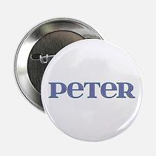 Peter Blue Glass Button