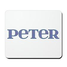 Peter Blue Glass Mousepad