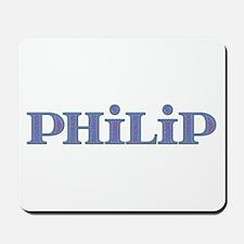 Philip Blue Glass Mousepad