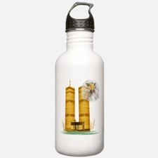 Gold Twin Towers n Eagle Water Bottle
