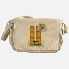 Gold Twin Towers n Eagle Messenger Bag