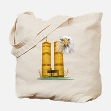 Gold Twin Towers n Eagle Tote Bag
