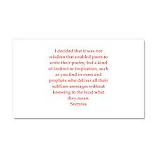 Wisdom of Socrates Car Magnet 20 x 12