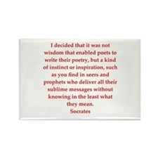 Wisdom of Socrates Rectangle Magnet