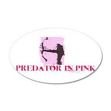 Predator in Pink 38.5 x 24.5 Oval Wall Peel