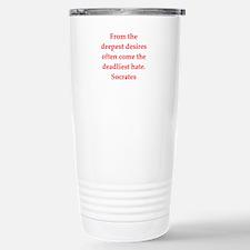 Wisdom of Socrates Stainless Steel Travel Mug