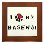 I *heart* My Basenji Framed Tile