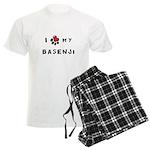 I *heart* My Basenji Men's Light Pajamas