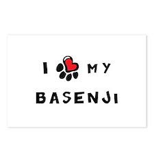I *heart* My Basenji Postcards (Package of 8)