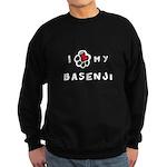 I *heart* My Basenji Sweatshirt (dark)