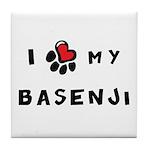 I *heart* My Basenji Tile Coaster