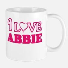 I Love Abbie Mugs
