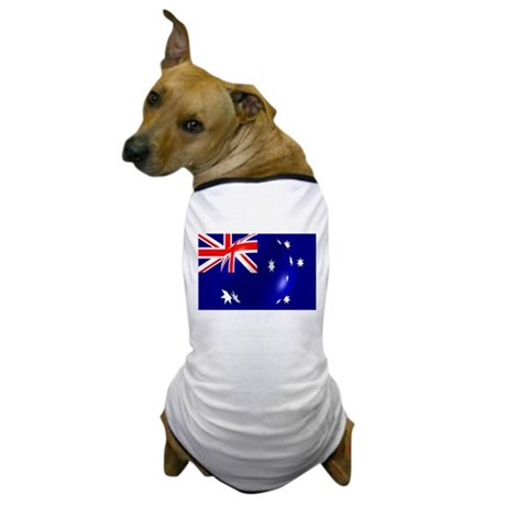 Australian Flag With Bubble Dog T-Shirt