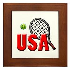 USA Tennis(3) Framed Tile