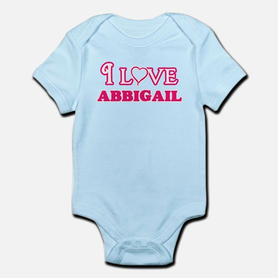 I Love Abbigail Body Suit