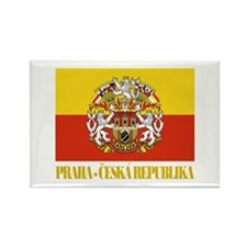 Praha (Prague) Flag Rectangle Magnet