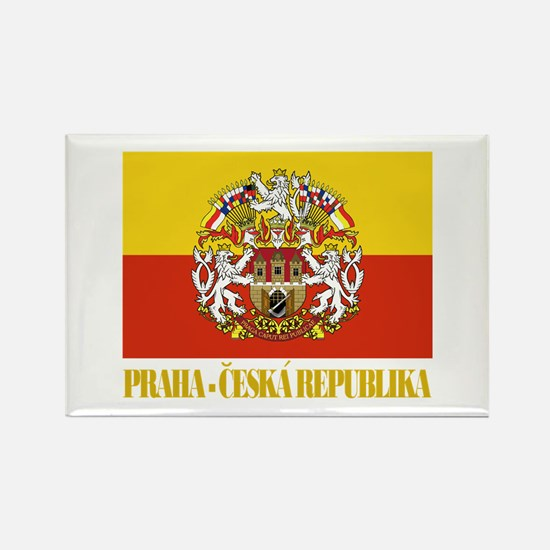 Praha (Prague) Flag Rectangle Magnet