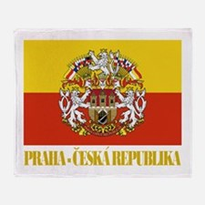 Praha (Prague) Flag Throw Blanket