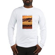Harsens Island Sunset Long Sleeve T-Shirt