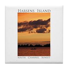 Harsens Island Sunset Tile Coaster