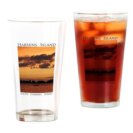Harsens Island Sunset Drinking Glass
