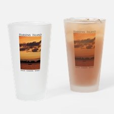 Harsens Island Sunset Drinking Glass