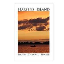 Harsens Island Sunset Postcards (Package of 8)