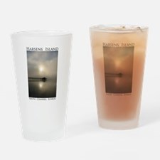 Harsens Island Sunrise Drinking Glass