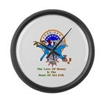 Root Of All Evil Gifts Large Wall Clock