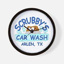 Scrubbys Car Wash Wall Clock