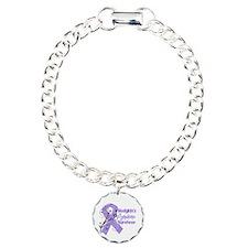 Hodgkin Lymphoma Survivor Charm Bracelet, One Char