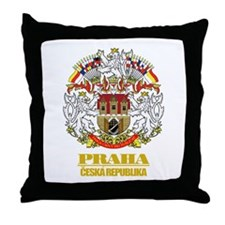 Praha (Prague) COA Throw Pillow
