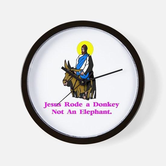 Jesus Rode A Donkey Gifts Wall Clock