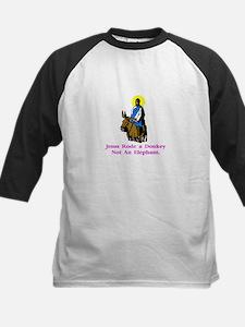Jesus Rode A Donkey Gifts Kids Baseball Jersey