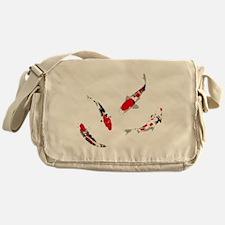 Varicolored carps Messenger Bag