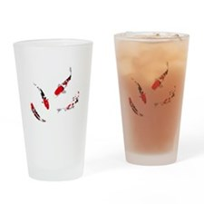 Varicolored carps Drinking Glass