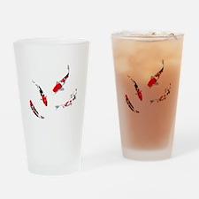 Varicolored carps Drinking Glass