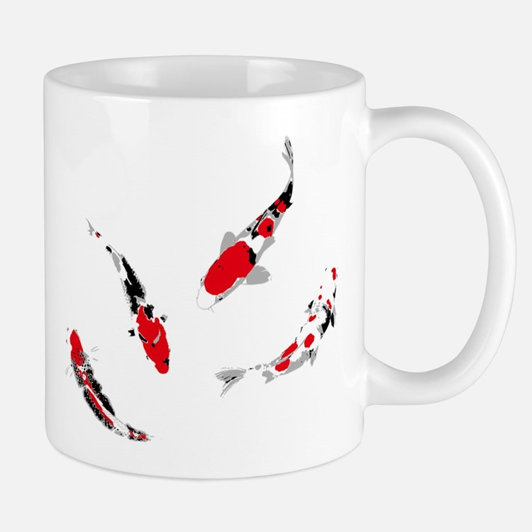 Varicolored carps Mug