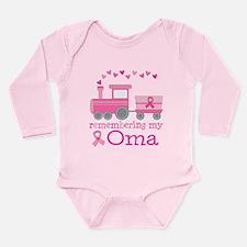 Pink Ribbon Remembering Oma Long Sleeve Infant Bod