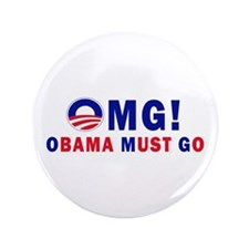 """OMG! Obama Must Go 3.5"""" Button (100 pack)"""