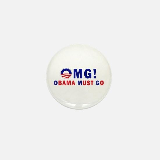OMG! Obama Must Go Mini Button (10 pack)