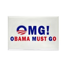 OMG! Obama Must Go Rectangle Magnet