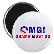 """OMG! Obama Must Go 2.25"""" Magnet (100 pack)"""