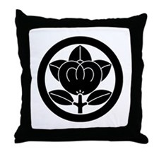 Encircled mandarin Throw Pillow